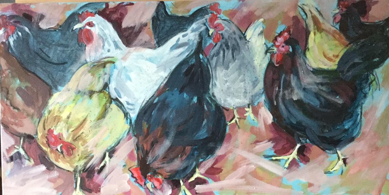 Chicken brood, Mixed media. £325