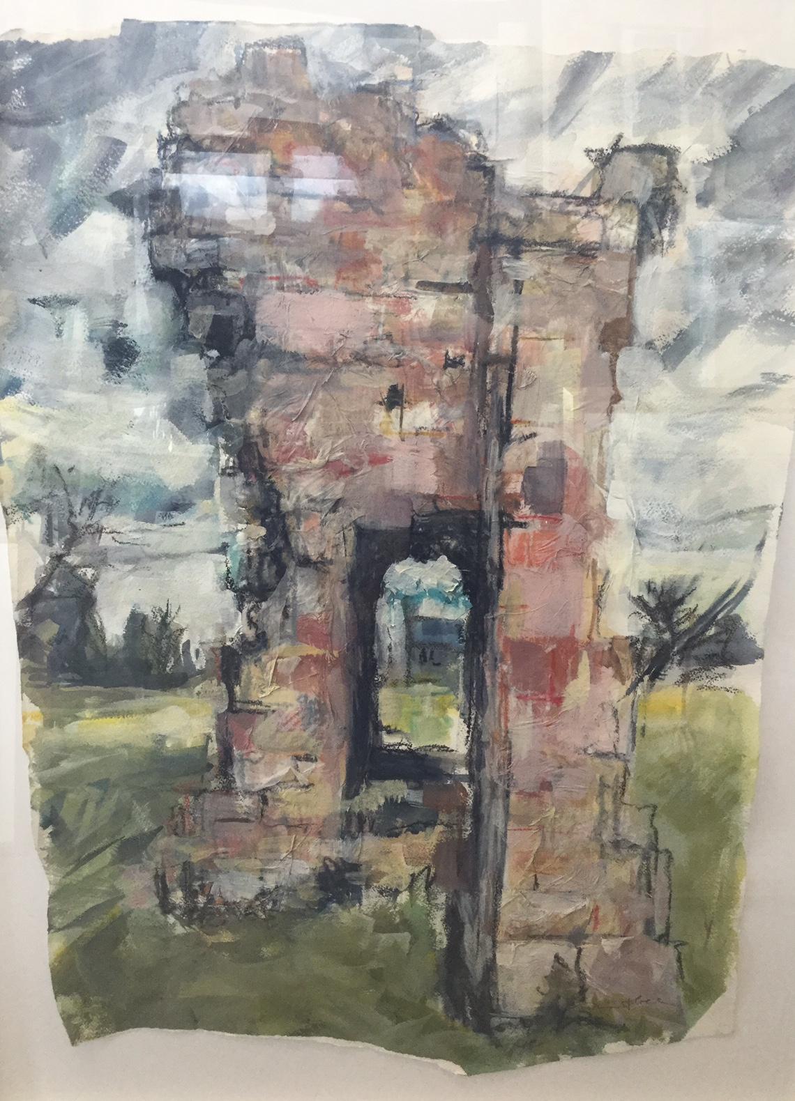 Remains of Campden House, Chipping Campden. Mixed media. £375