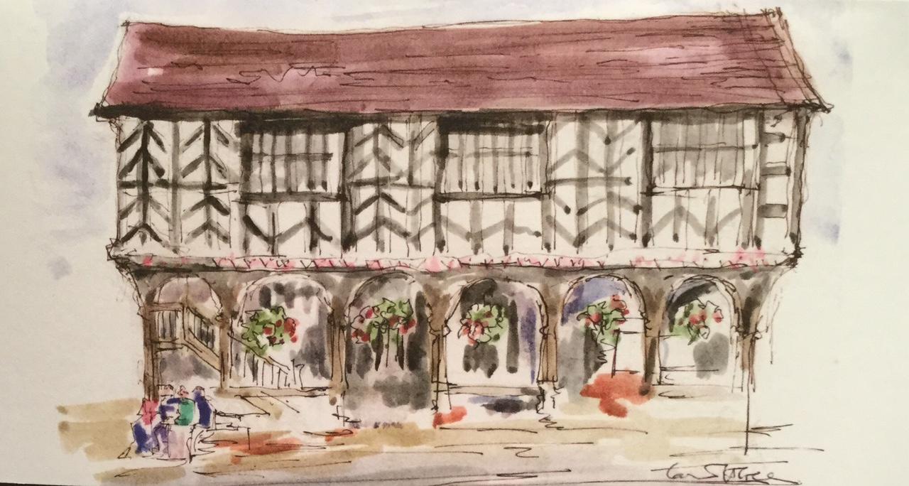 Market House, Ledbury. Available as a card