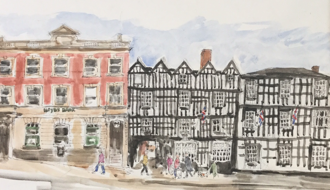 Ledbury High Street. Available as a card